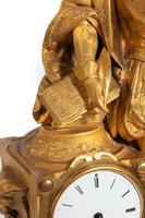 Very Fine Quality 19th Century Gilt Bronze & Bronze Mantel Clock (2 of 6)
