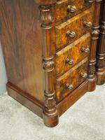 Pair of Victorian Figured Walnut Bedsides (2 of 10)