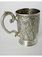 Victorian Silver Christening Mug with a Floral Scroll Handle (3 of 6)