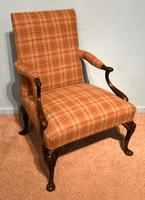 George I Style Walnut Gainsborough Armchair (7 of 8)