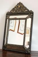 Dutch Repousse Brass Cushion Framed Mirror with Arched Crest (12 of 12)