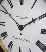 Rare Antique Drop Dial Wall Clock 8 Day Single Fusee Movement (13 of 13)