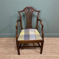 Set of 8 Hepplewhite Design Antique Mahogany Dining Chairs (8 of 10)