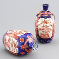 Pair of Japanese Meiji Period Square Form Imari Vases c.1890 (4 of 9)