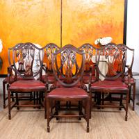 Dining Table & 8 Chairs Mahogany 3.2 Metres Long Hepplewhite Stalker (16 of 16)