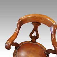 Victorian Mahogany Revolving Desk Chair (4 of 5)
