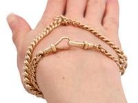 9ct Yellow Gold Double Albert Watch Chain - Antique c.1910 (12 of 12)