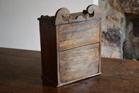 Small Rustic Antique Oak Wall Cupboard (7 of 10)