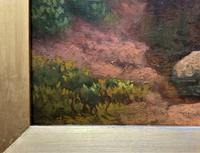 John Barter Lovely 19th Century Oil Painting 'Crossing the Stones' (8 of 14)