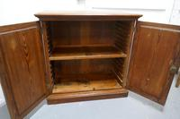 Sturdy 19th Century Pitch Pine 2 Door Cupboard (7 of 8)