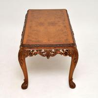 Antique Burr Walnut Queen  Anne Style Coffee Table (9 of 10)