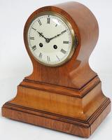 Impressive Solid Walnut Drum Head Striking Mantel Clock PHS Mantle Clock (6 of 12)