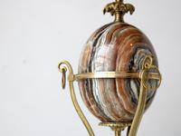 Mid-Century Marble Egg Table Lamp Attr. Maison Charles (3 of 8)