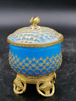Palays Royale Box in Blue Opaline & Gold Brass Frame (3 of 5)