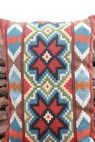 Swedish 'Folk Art' Vintage Large Woven Röllakan Cushion c.1930 (13 of 26)