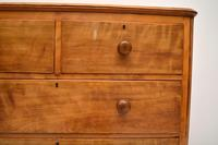 Large Antique Victorian Satinwood Chest of Drawers (6 of 16)