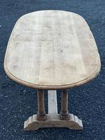French Bleached Oak Farmhouse Refectory Dining Table (8 of 18)
