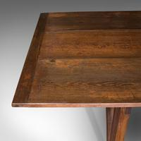 Large 12' Antique Kitchen Table, English, Pine, Industrial, Victorian, 1900 (10 of 12)