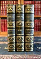 1850 Ireland,  Its Scenery & Character by Mr & Mrs Hall, Complete in 3 Fine Leather Volumes