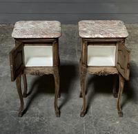 Pair of French Marble Top Bedside Cupboards (12 of 26)