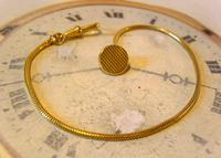 Vintage Pocket Watch Chain 1970s 12ct Gold Plated Albert & Ornate Button Hole Fob (2 of 10)