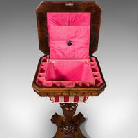 Antique Sewing Table, English, Ladies Work Box, Side, Early Victorian c.1850 (10 of 12)