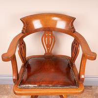 Oak Revolving Office Desk Chair (4 of 10)