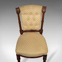 Set of 4 Antique Chairs, Scottish, Walnut, Suite, Dining, Victorian c.1890 (8 of 12)