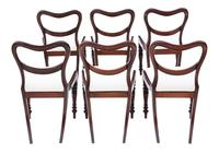 Set of 6 William IV Mahogany Balloon Back Dining Chairs c.1835 (8 of 8)