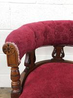 Pair of Victorian Mahogany Upholstered Tub Chairs (9 of 15)