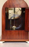 Edwardian Mahogany Arch Top Mantel Clock (9 of 10)