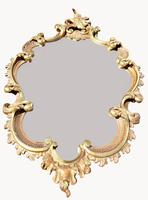A Good Quality Carved Wood Cartouche Shaped Mirror (2 of 4)