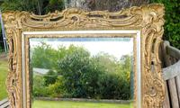 Gilded Rococo Style Wood Mirror Bevelled Glass 1900 (11 of 12)
