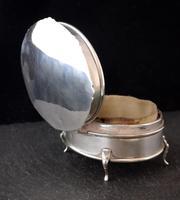 Antique Sterling Silver Jewellery Casket, Box