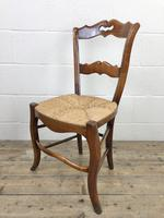 Set of Four Antique French Fruitwood Dining Chairs (7 of 9)