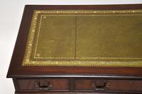 Antique Georgian Style Mahogany Leather Top Pedestal Desk (10 of 10)
