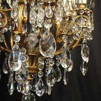 French Gilded Bronze 17 Light Crystal Chandelier (5 of 10)
