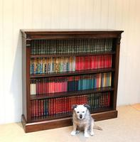 Late 19th Century Open Mahogany Bookcase (7 of 10)