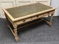 Large Oak 6 Drawer Writing Table (15 of 16)