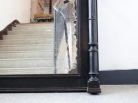 """Late 19th Century French """"Ebonised"""" Overmantel Mirror with Columns (2 of 6)"""