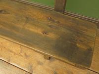 Antique Elm & Pine Sunday School Bench, Rustic Hall Seat (12 of 14)
