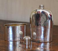 Fine Early Victorian Solid Silver Hip Flask (5 of 8)