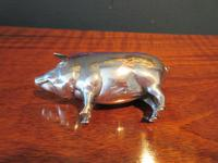 Large Antique Solid Silver Pig Pin Cushion (7 of 8)