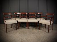 Set of 8 Regency Mahogany Dining Chairs (10 of 20)