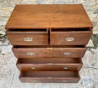 Antique Military Campaign Teak Chest of Drawers (18 of 21)