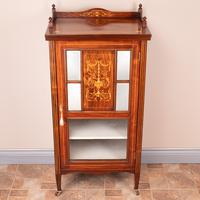 Inlaid Rosewood Music Display Cabinet (2 of 15)