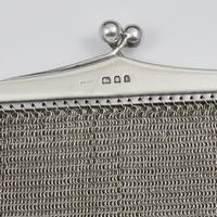 Large Art Deco English Sterling Silver Chain Link Evening Bag (3 of 7)