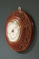 Superb Antique Oak Carved Dundee Barometer (2 of 6)