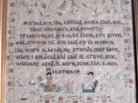 English Needlework Sampler by Jane Whitaker, Aged 11, 1820, Lake District (5 of 6)