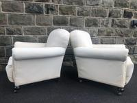 Pair of antique English armchairs for recovering (7 of 9)